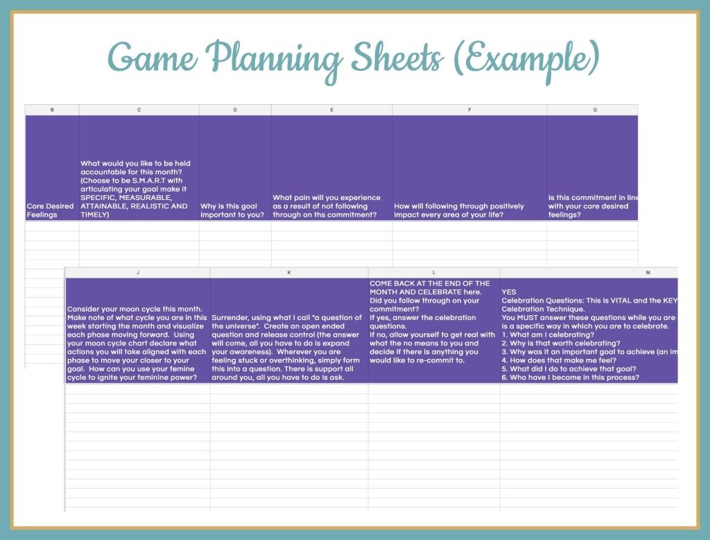 PlanningSheets